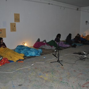 Collective Sleep, 2014, Workshop for Fine Art students, Photo credits Federica Peyrolo