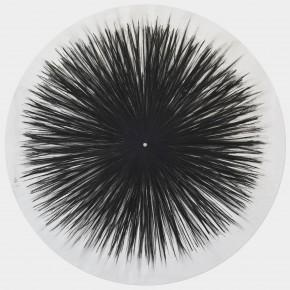 """""""L'infinito"""", carboncino su tela, 160x160 cm, 2013"""