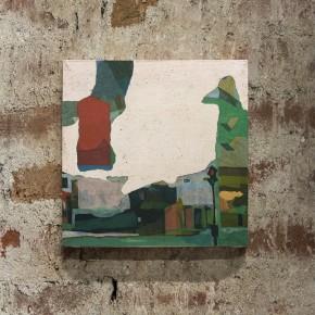 CONNECTIONS_BOLOGNA/LONDON/NEW YORK  2014, olio su tela  cm 40 x 40