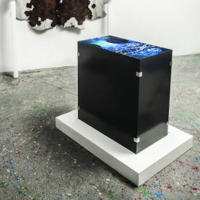ANNA IPPOLITO, Simmetrie inst.v.1, 2013, monitor, specchi, legno, pelle
